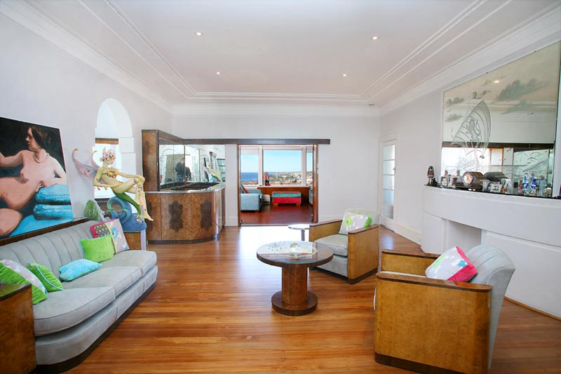 Art deco house Dover Heights - living