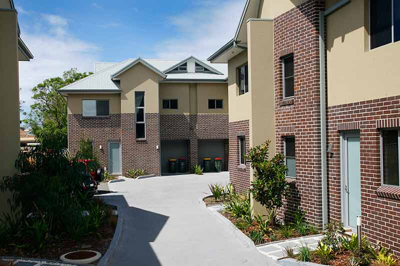Bayside townhouses Monterey - central access road