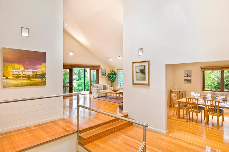 Large home with subtle street presence Killara - foyer