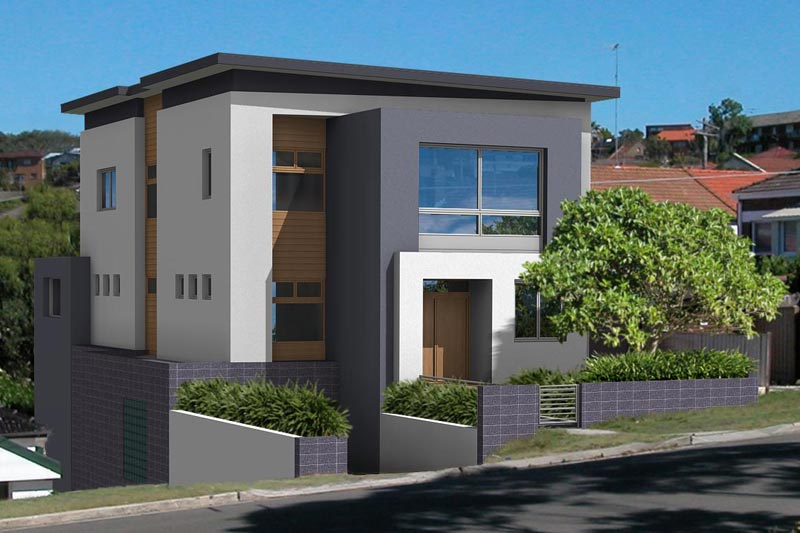Cube house Maroubra - street view