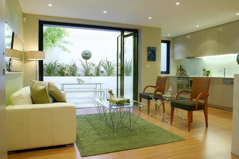 Large Paddington terrace unit transformation - living to terrace