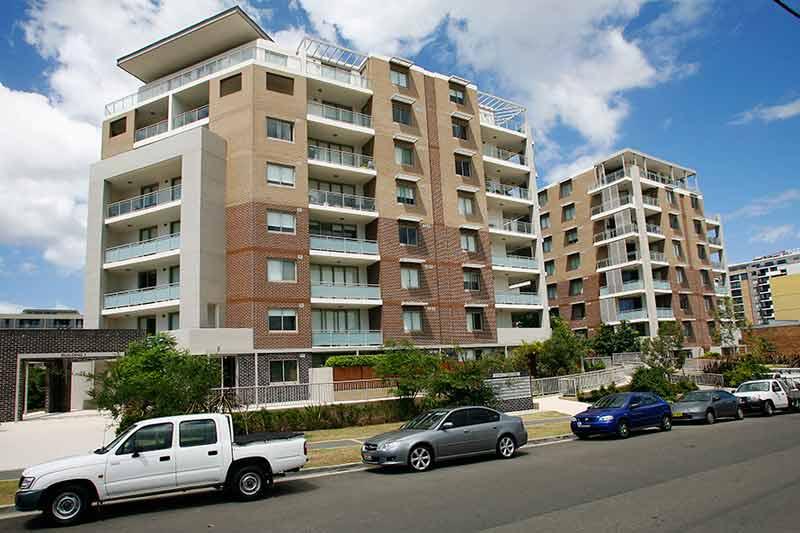 Rina apartment buildings Mascot - facing south