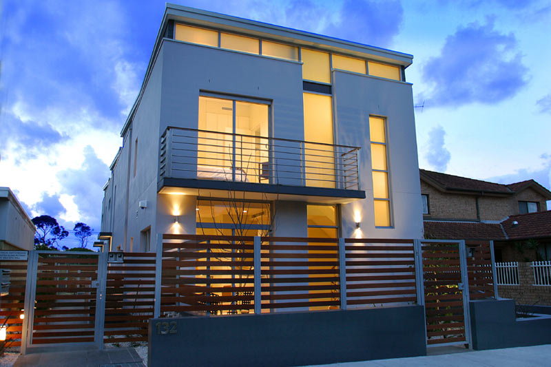 Boutique townhouses Maroubra - at dusk