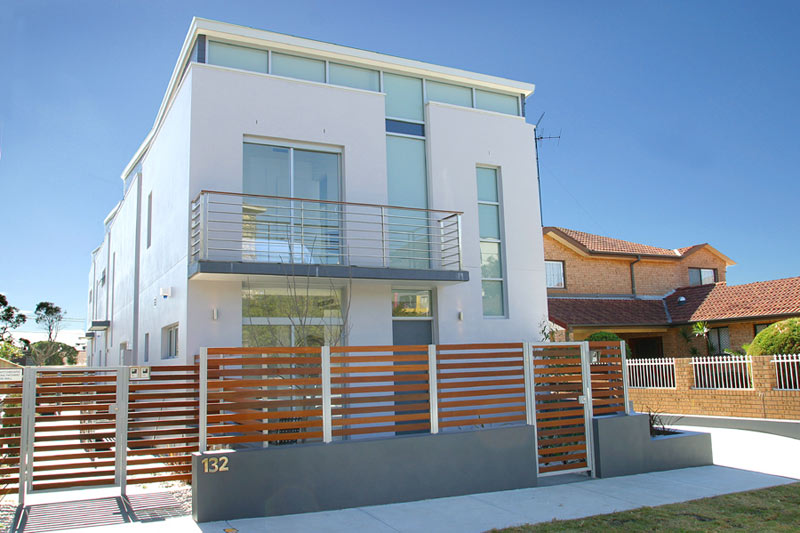 Boutique townhouses Maroubra - street view