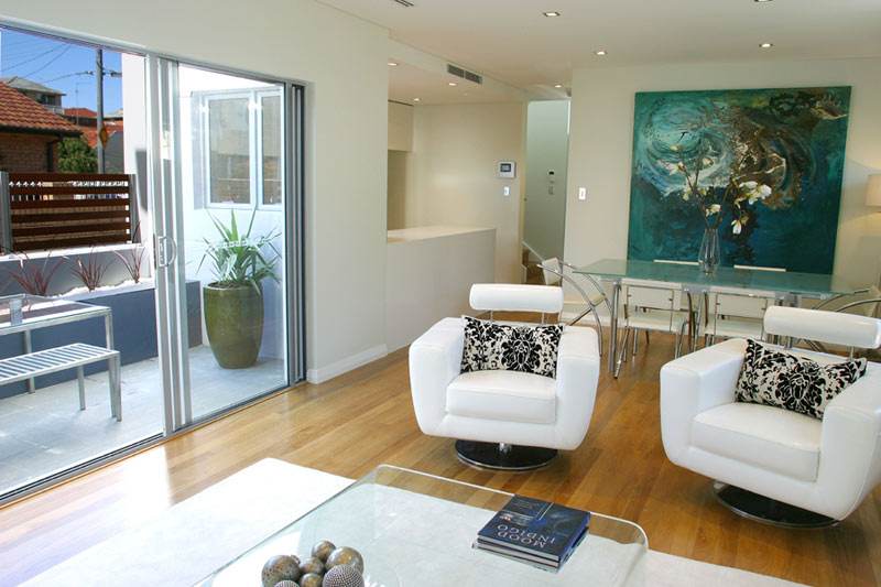 Boutique townhouses Maroubra - living to balcony