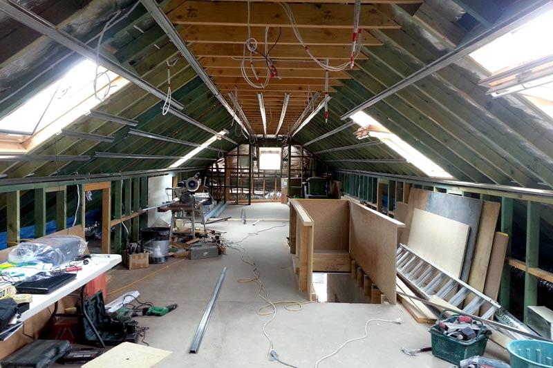 Chatwood renovation Attic Lockup Stage