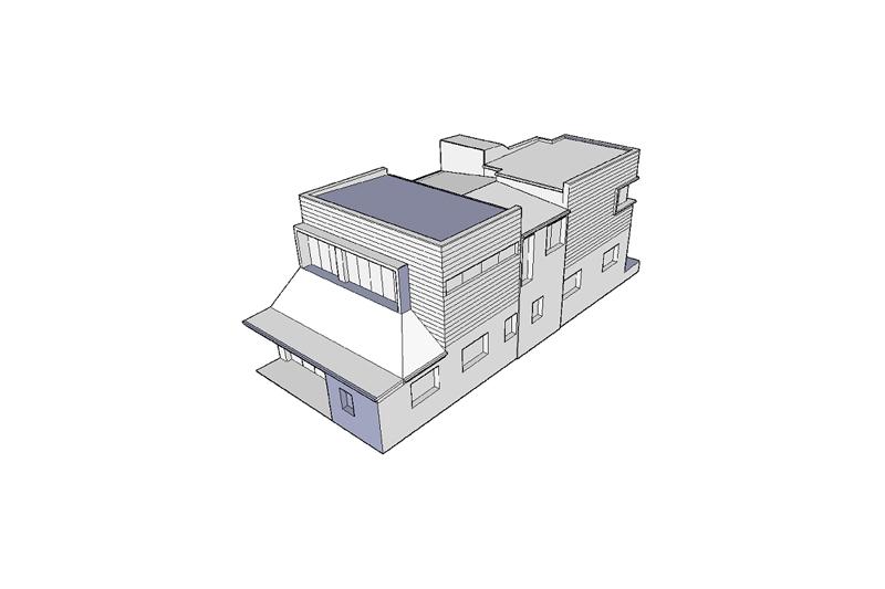 Coogee corner house upper storey. Construction begins