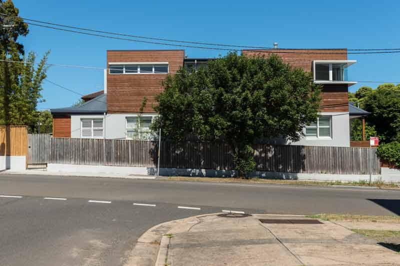 Coogee corner house - street view