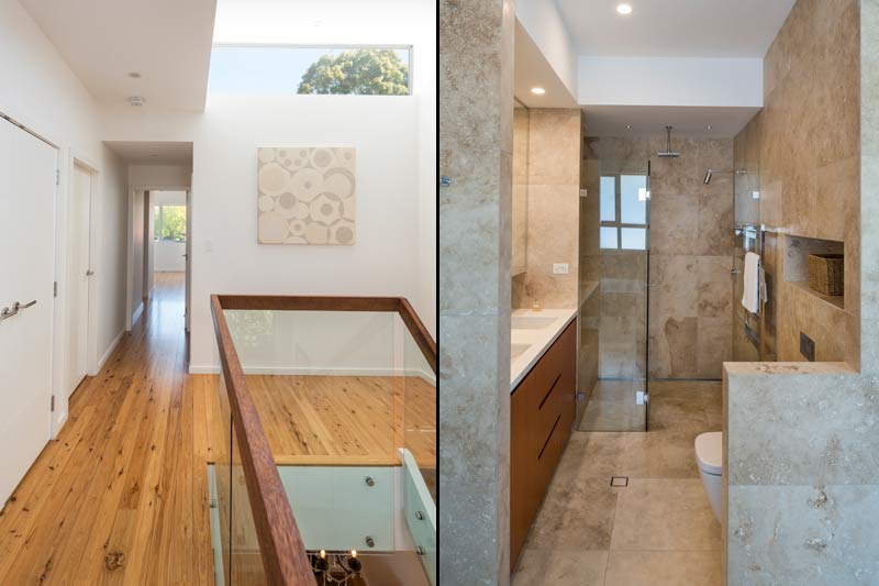 Coogee corner house - skylight