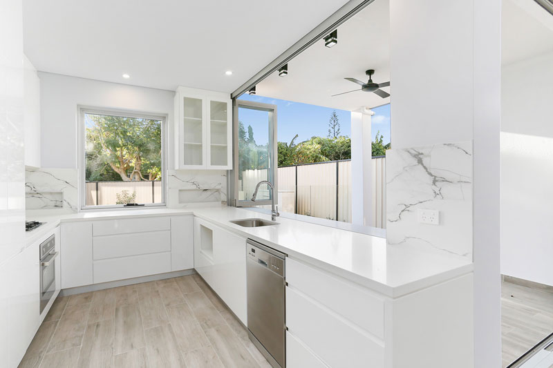 Duplex homes with swimming pool designed for the entertainer – Chifley - kitchen connection
