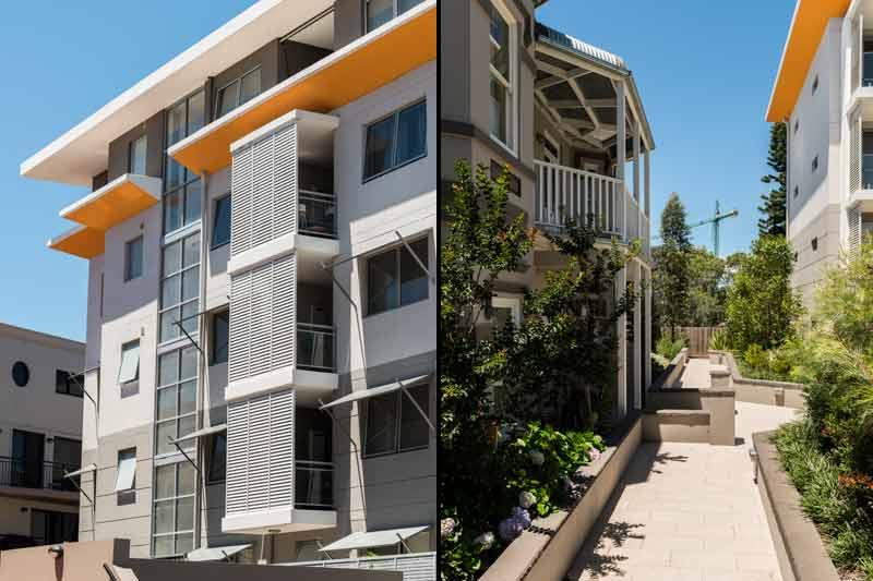 Vicinity - shaded balconies