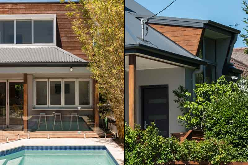 Coogee corner house - entertaining deck