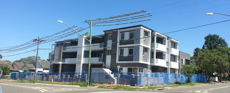 Guildford contemporary apartments nearing completion