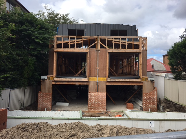 Bronte duplex with artist garage attic - garage attic - street view - under construction
