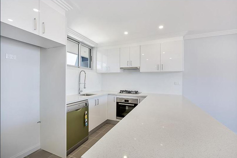 Arcadia apartments and retail - kitchen