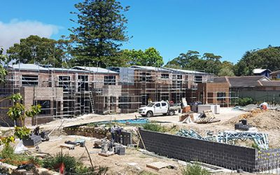 Gymea luxury family townhouses now under construction