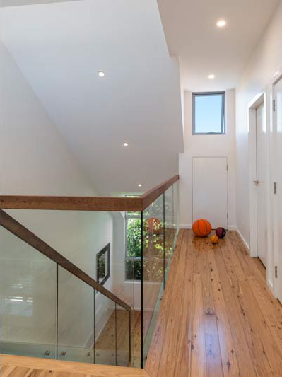 Coogee corner house - stair and hall