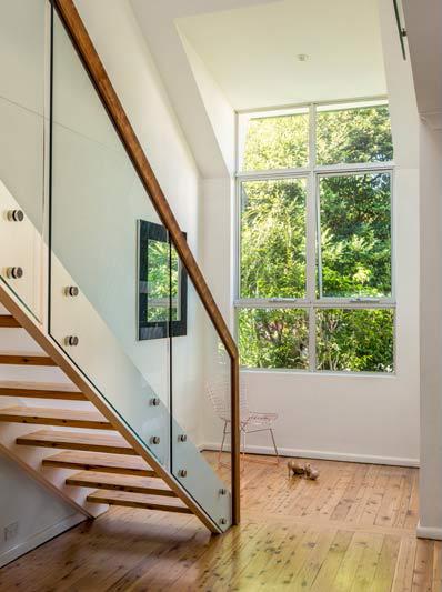 Coogee corner house - stair and window