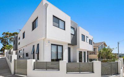 Rose Bay corner duplex completed