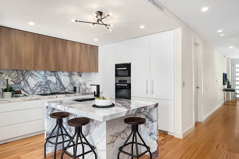 Rose Bay corner duplex - kitchen