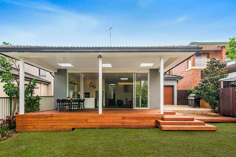 Chifley connections with garden and light - garden looking in