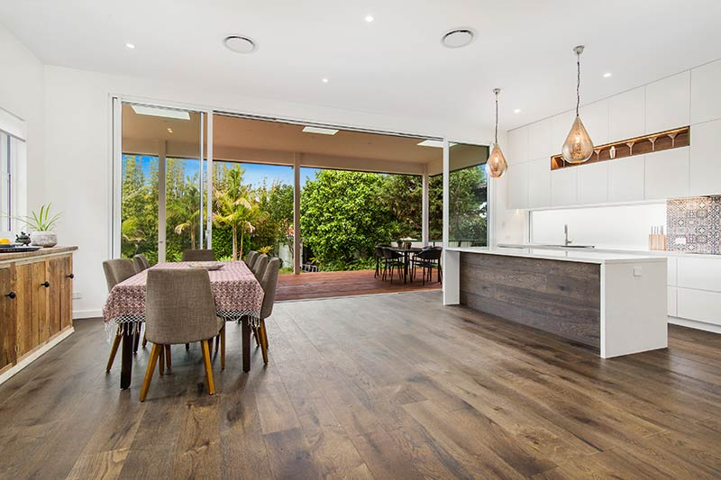 Chifley connections with garden and light - living looking to garden