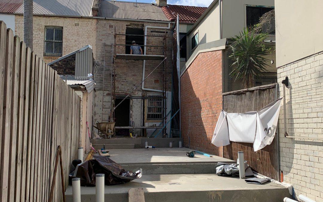 Beaconsfield tiny terrace big plans - rear excavation