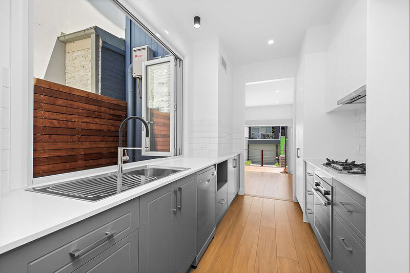 Beaconsfield tiny terrace big plans - galley kitchen