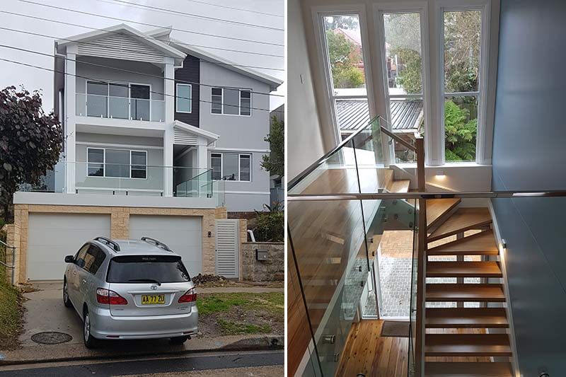 Coogee upper storey with clerestory windows – completed