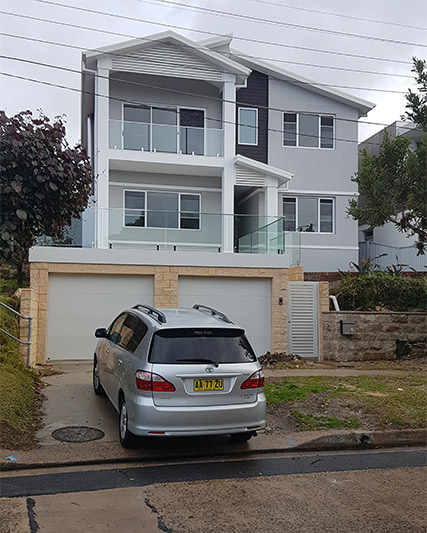 Clerestory windows light up Coogee upper storey - from road