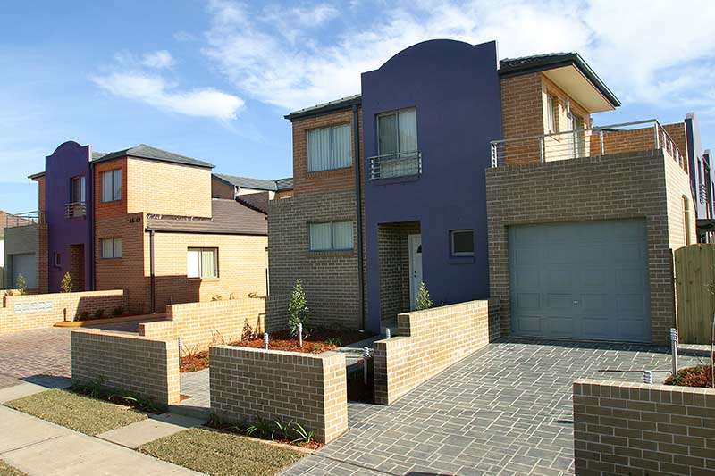 Fairfield family townhouses - street view
