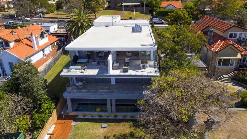 Grand waterview apartments Mosman - aerial east