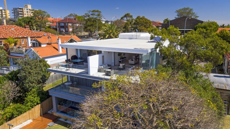 Grand waterview apartments Mosman - aerial east north