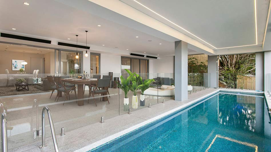 Grand waterview apartments Mosman - 15m lap pool on terrace entertainment area