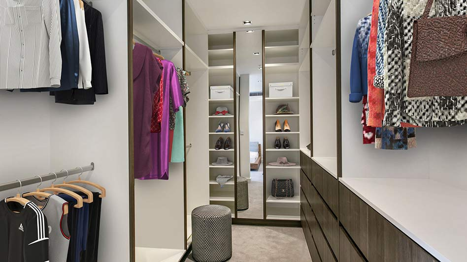 Grand waterview apartments Mosman - walk in wardrobe