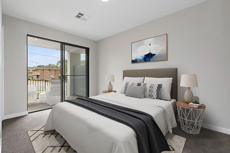 Leafy creekside large family townhouses Gymea - bedroom