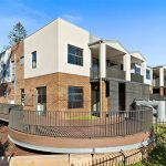 Leafy creekside large family townhouses Gymea - street view