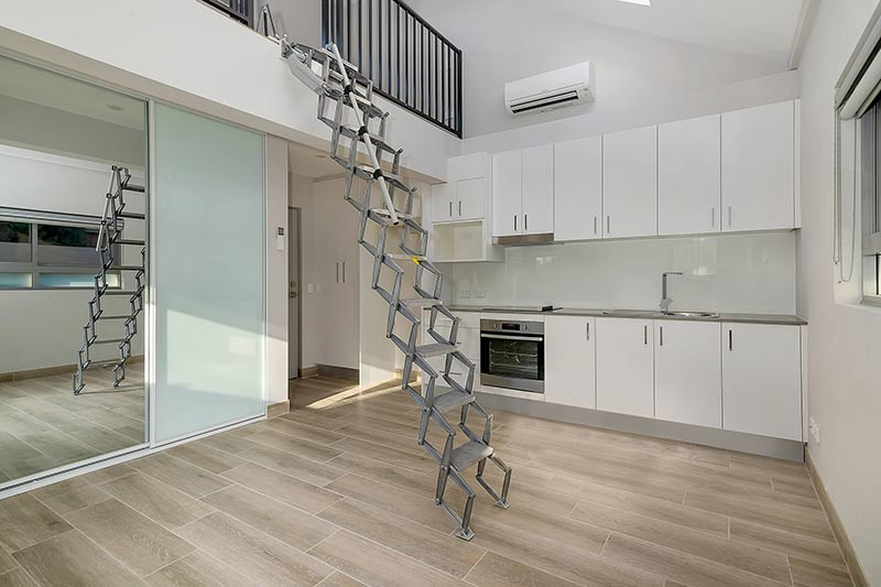 New generation boarding house Maroubra - loft stair