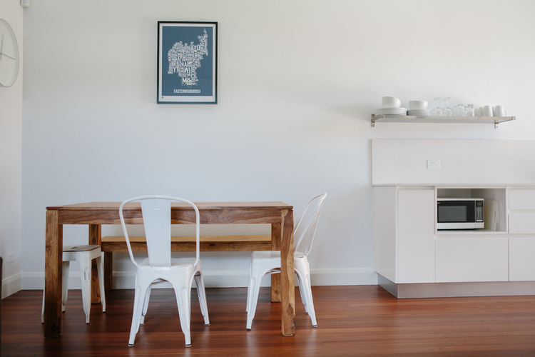 Rammed Earth Coogee House granny flat - dining
