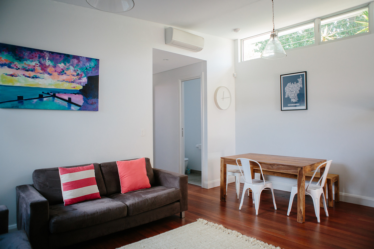 Rammed Earth Coogee House granny flat - living