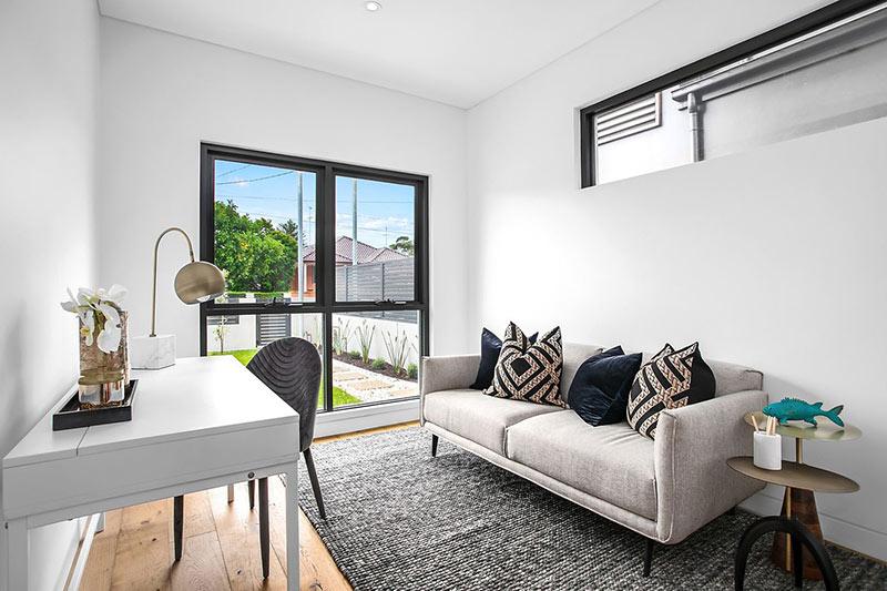 Northern lights Maroubra duplex - living room to courtyard